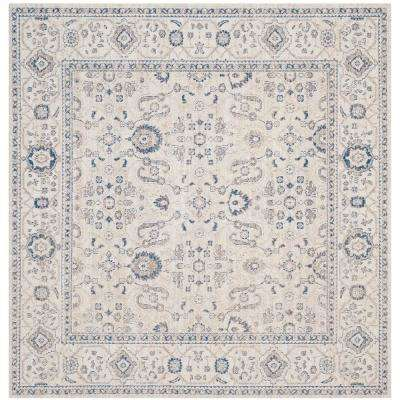 Patina Light Gray/Ivory 6 ft. 7 in. x 6 ft. 7 in. Square Area Rug