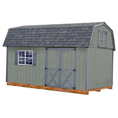 Meadowbrook 10 ft. x 16 ft. Wood Storage Shed Kit with Floor Including 4 x 4 Runners