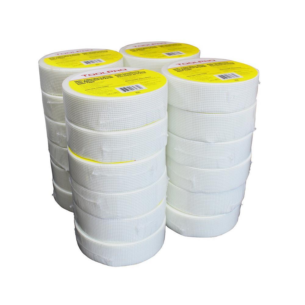 1-7/8 in. x 300 ft. White Fiberglass Self-Adhesive Mesh Tape TP03075