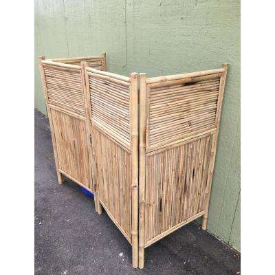 96 in. W x 48 in. H per panel 4-Panel Bamboo Screen Enclosure