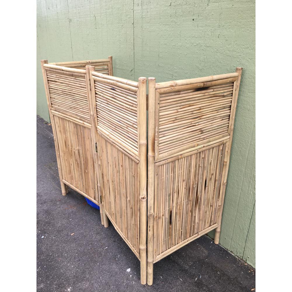 96 in. W x 48 in. H per panel 4-Panel Bamboo Screen Enclosure