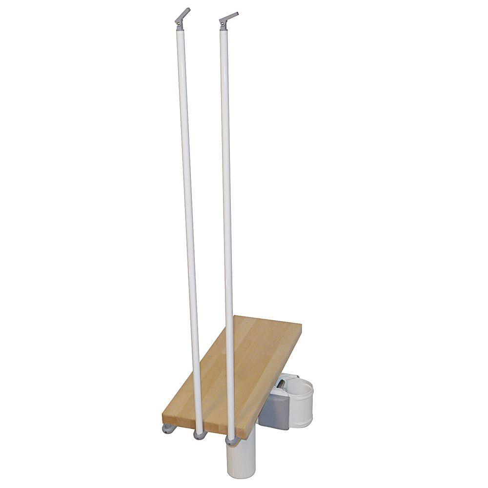 Kompact 35 in. White Modular Staircase Add Riser