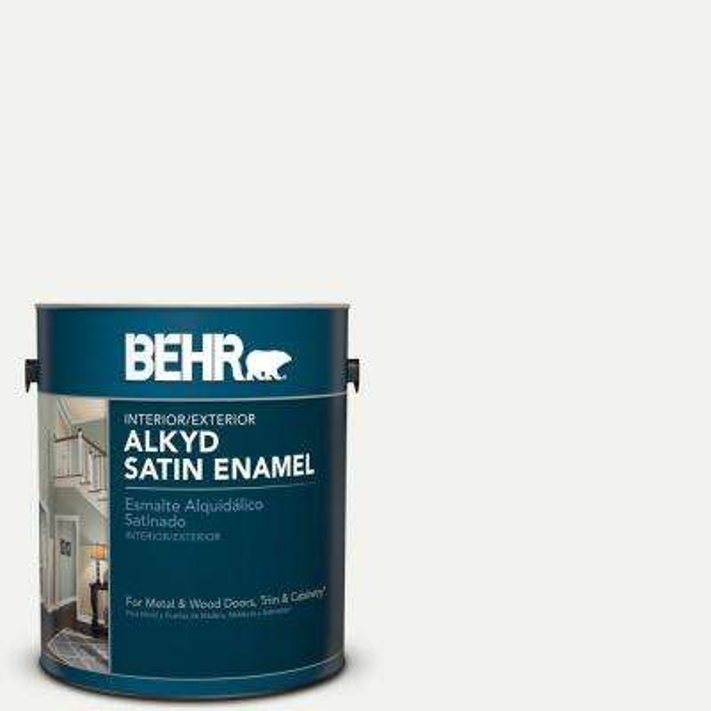 1 gal. White Satin Enamel Alkyd Interior/Exterior Paint