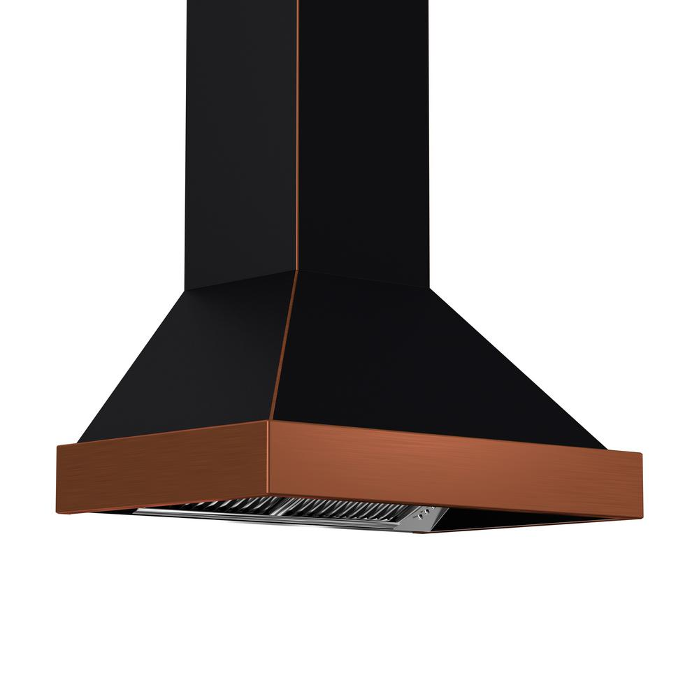 Zline Kitchen And Bath Zline 30 In. 900 Cfm Wall Mount Range Hood In Black And Copper