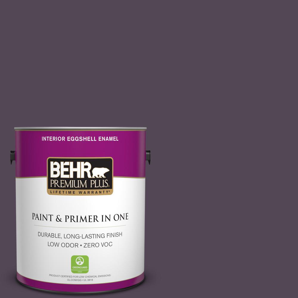 BEHR Premium Plus 1-gal. #BXC-51 Deep Mulberry Eggshell Enamel Interior Paint