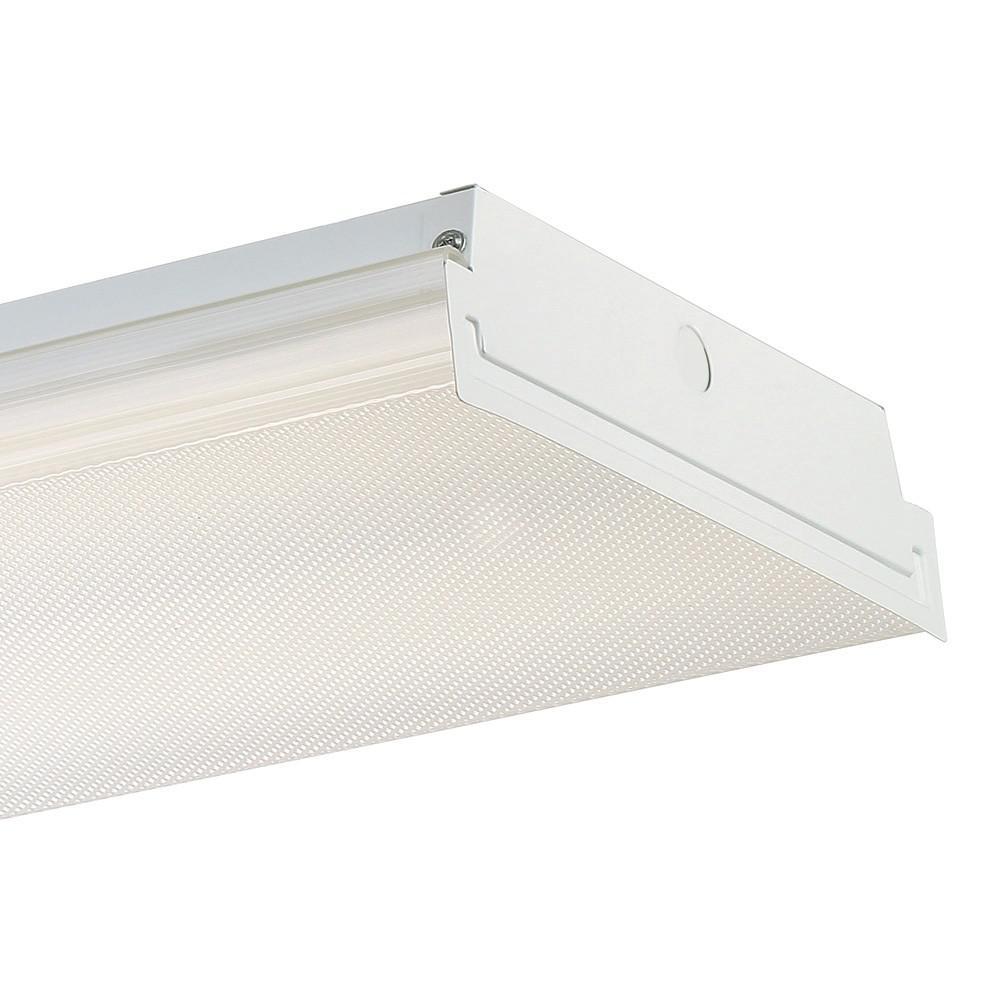 4 ft. White LED Wraparound Extra Bright Ceiling Light