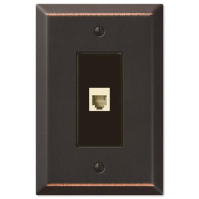 Oversized 1 Gang Phone Steel Wall Plate - Aged Bronze