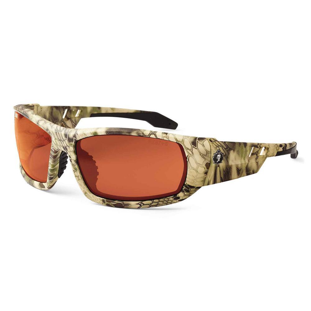 Skullerz Odin Kryptek Highlander Polarized Safety Glasses, Tinted Lens - ANSI Certified