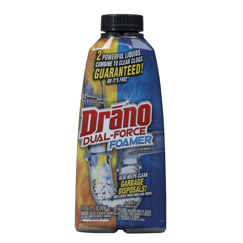 drano 17 oz. foaming liquid drain cleaner-014768 - the home depot