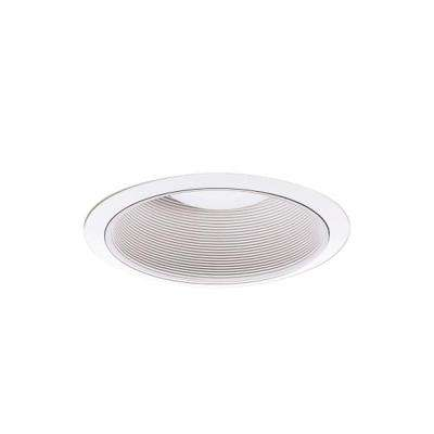 ML 6 in. White LED Recessed Ceiling Light Open Baffle Attachable Module Trim