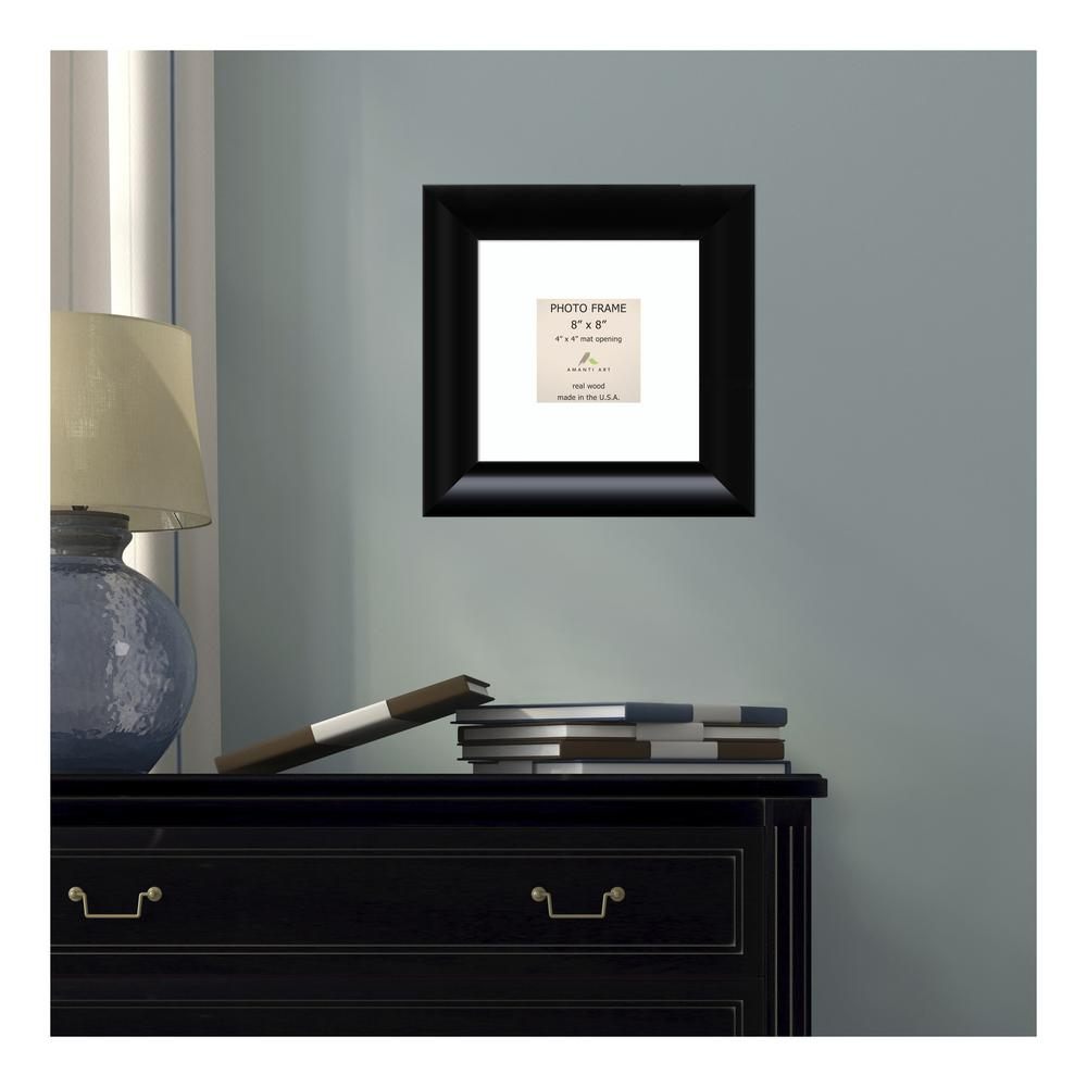 Amanti Art Steinway 4 In X 4 In White Matted Black Picture Frame