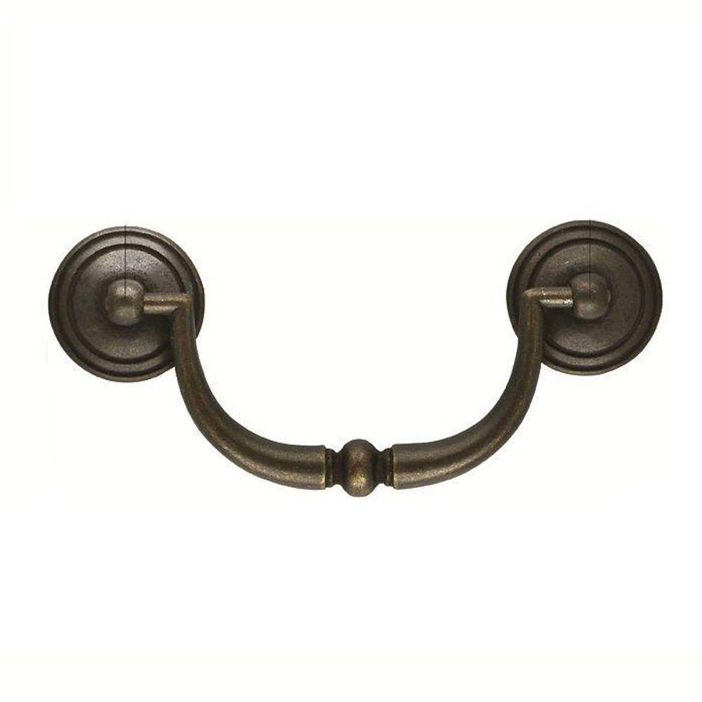 Hickory Hardware 3-1/4 in. Windover Antique Furniture Bail Pull - Hickory Hardware 3-1/4 In. Windover Antique Furniture Bail Pull