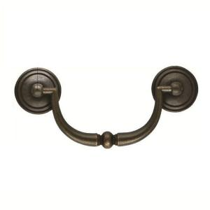 """FURNITURE BAIL VINTAGE ANTIQUE STYLE VICTORIAN DRAWER PULLS CC 3/"""" SOLID BRASS"""