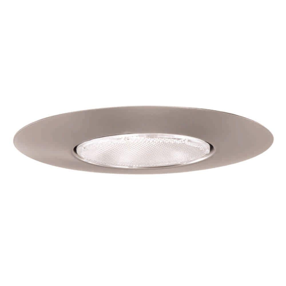 Halo 300 Series 6 in. Satin Nickel Recessed Ceiling Light Open Trim  sc 1 st  Home Depot & Halo 300 Series 6 in. Satin Nickel Recessed Ceiling Light Open Trim ...