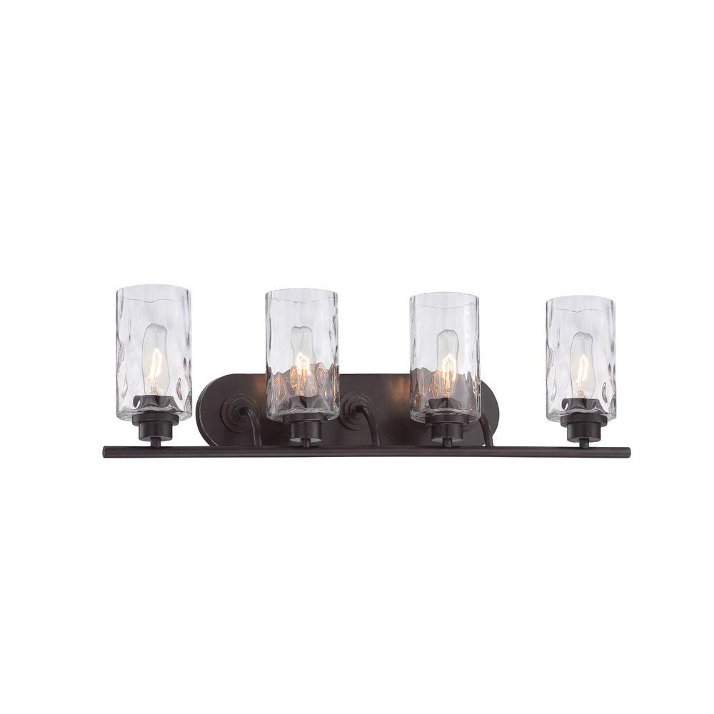 Designers fountain elements 4 light charcoal interior incandescent gramercy park 4 light old english bronze interior incandescent bath vanity light mozeypictures Images