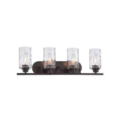Gramercy Park 4-Light Old English Bronze Interior Incandescent Bath Vanity Light