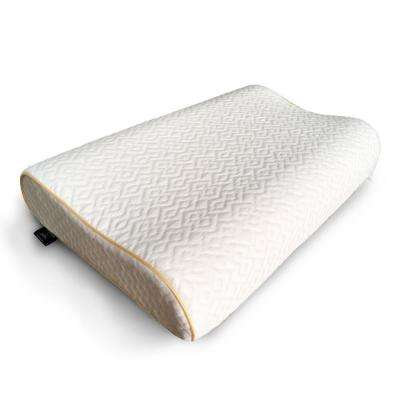 A1HC 16 in. x 24 in. Cooling Gel Coated Contour Memory Foam Standard Pillow with Cooling and TENCEL Cover
