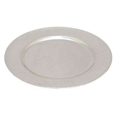 0.75 in. Silver Charger Plate