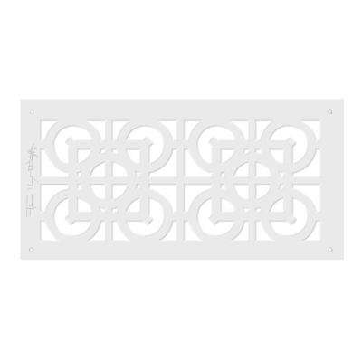 Frank Lloyd Wright Collection 6 in. x 14 in. Luxfer Lattice Major Grille Aluminum in White-Gloss