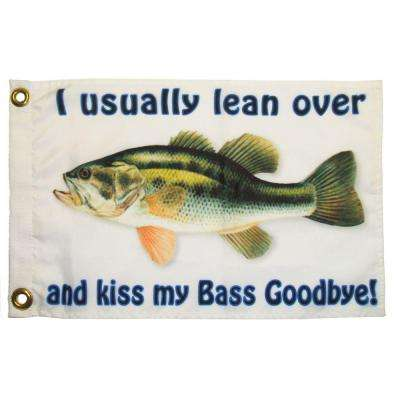 12 in x 18 in Nauti Bass Goodbye Funny Flag