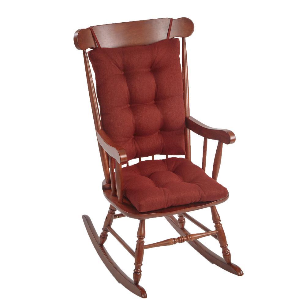 Gripper Omega Flame Jumbo Rocking Chair Cushion Set