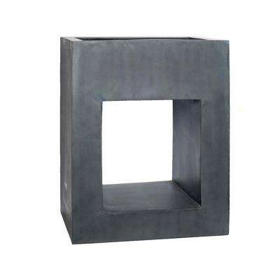 39 in. x 19.5 in. x 31.5 in. Gray Hole in 1 Rectangular Planter