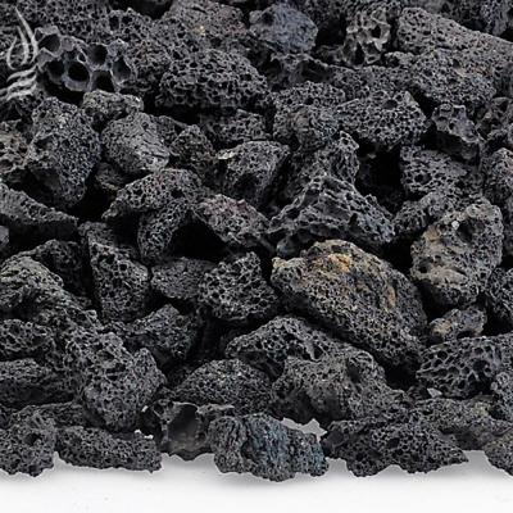 Small Black Lava Rock (1/4 in. - 1/2 in.) 10 lbs. Bag
