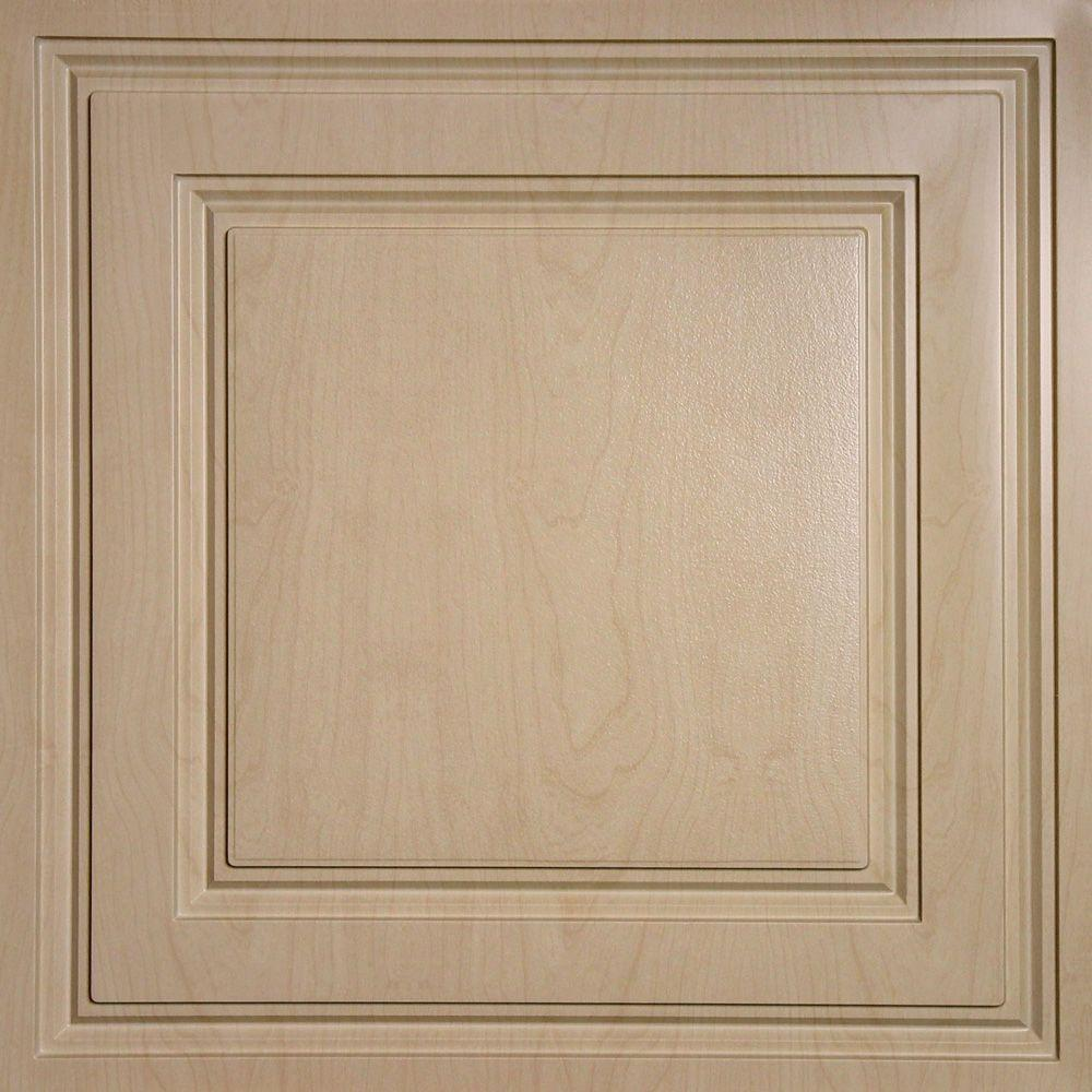 Ceilume Oxford Faux Wood-Sandal Evaluation Sample - 2 ft. x 2 ft. Lay-in Ceiling Panel