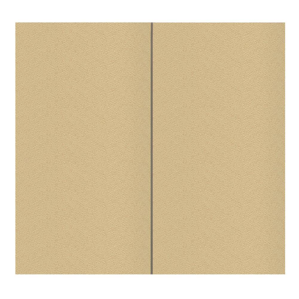 SoftWall Finishing Systems 64 sq. ft. Vanilla Fabric Covered Full ...