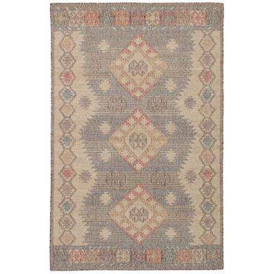 Kozak Brown, Ivory 5 ft. x 8 ft. Indoor Area Rug