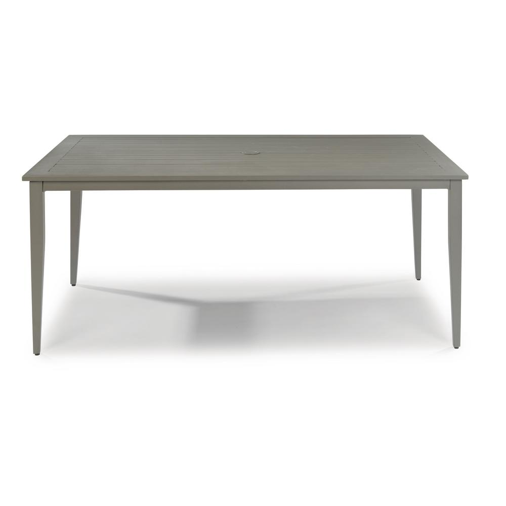Daytona Charcoal Gray Rectangular Aluminum Outdoor Dining Table