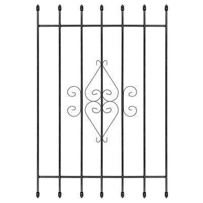 36 in. x 54 in. Su Casa Black 7-Bar Window Guard