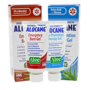 Alocane 2.5 oz. Burn Gel and 2.5 oz. First Aid Scar Gel Bundle by Alocane