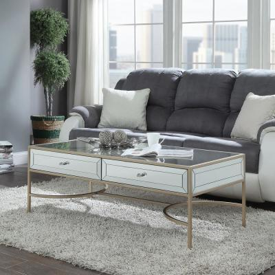 Wisteria Mirrored with Rose Gold Coffee Table
