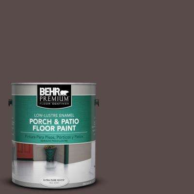 1 gal. #ECC-28-3 Charred Hickory Low-Lustre Porch and Patio Floor Paint