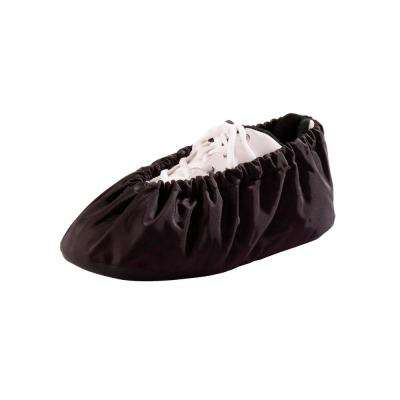 Unisex Size Small Black Washable Shoe Covers Non-Skid (1-Pair)