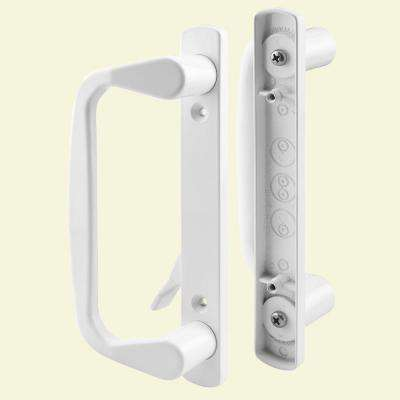 White Decorative Siding Door Handle Set