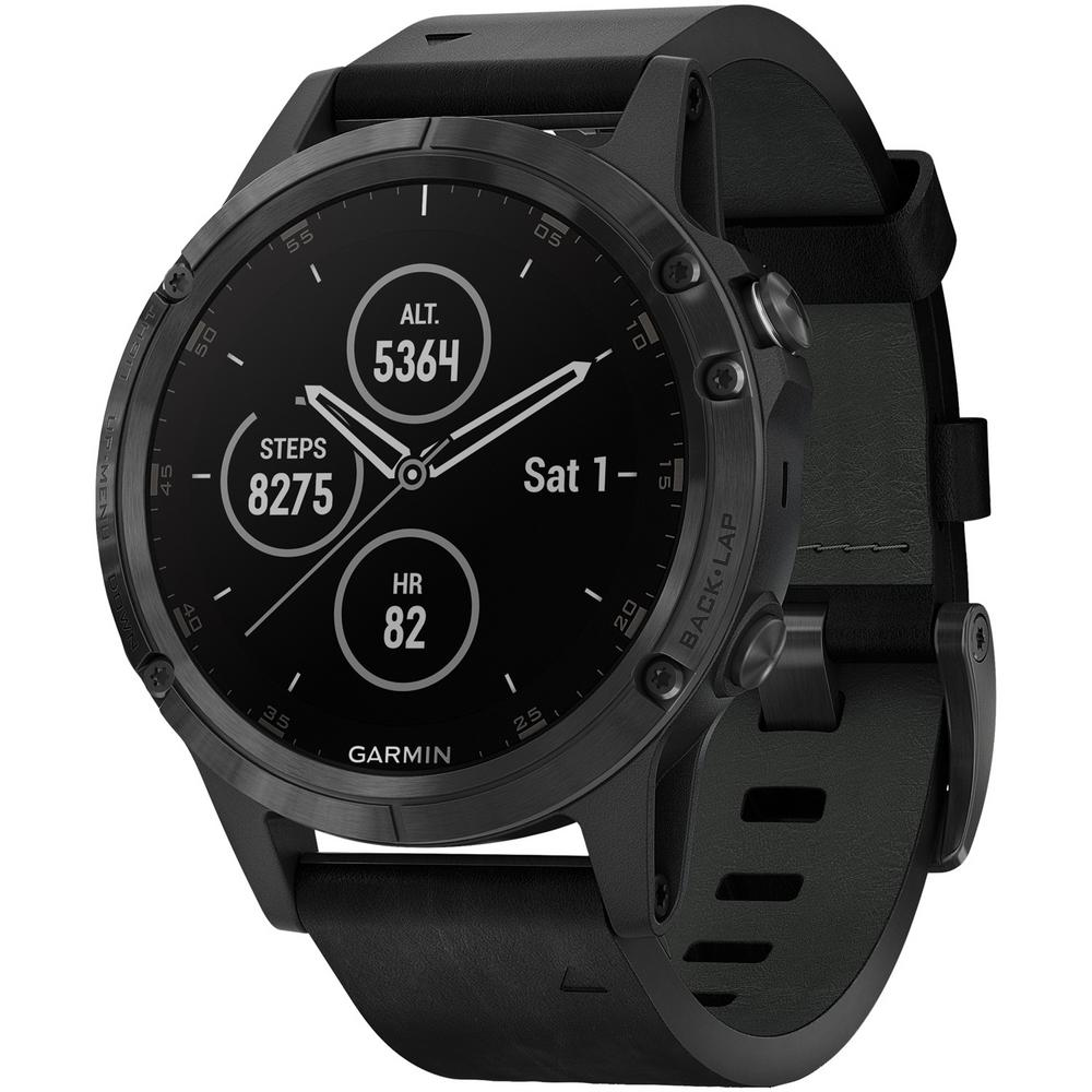 Fenix 5 Plus Black GPS Watch for Medium Wrists