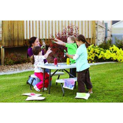35-1/2 in. x 32-1/2 in. Kids Picnic Table with Benches