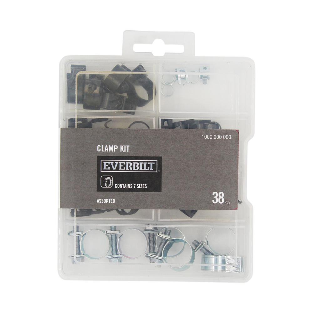 38-Piece Hose Clamp Assortment Kit