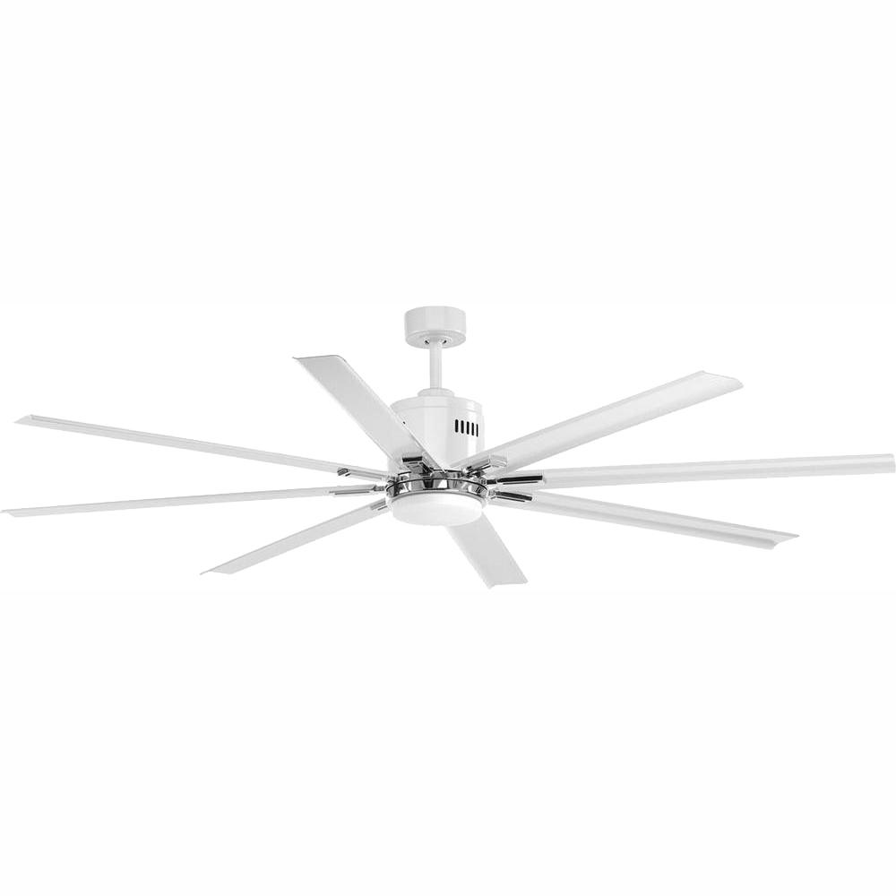 Progress Lighting Vast Collection 72 in. LED Indoor White Modern Ceiling Fan with Light Kit and Remote