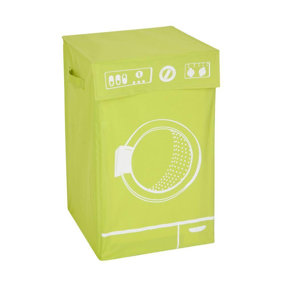 Washing Machine Graphic Hamper in Lime