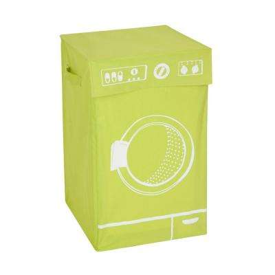 Washing Machine Graphic Hamper in Lime