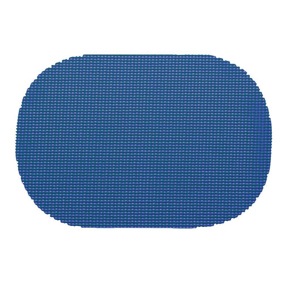 Kraftware Fishnet Oval Placemat in Blue (Set of 12) by Kraftware
