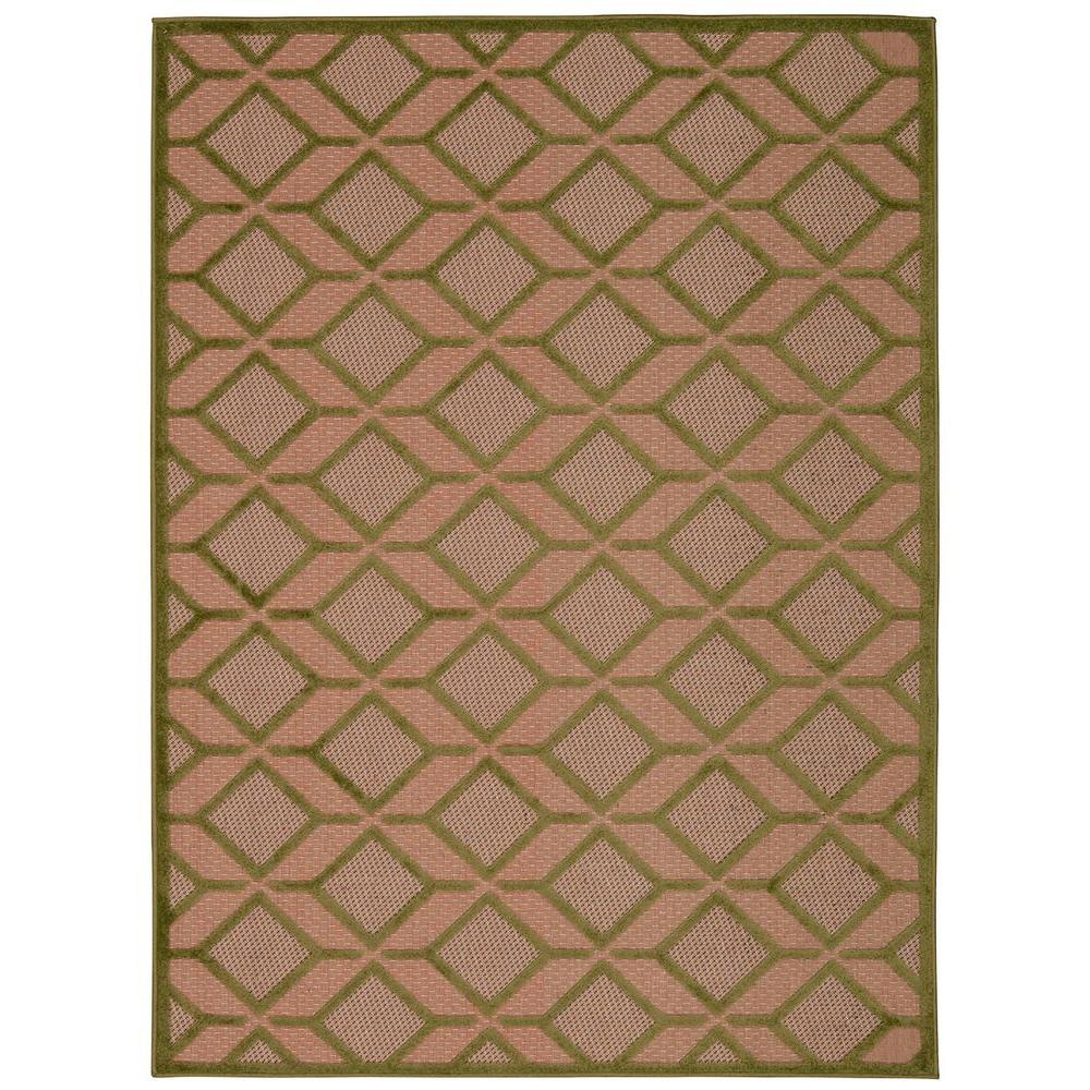 Outdoor Rug 7 X 10: Nourison Aloha Green 7 Ft. 10 In. X 10 Ft. 6 In. Indoor