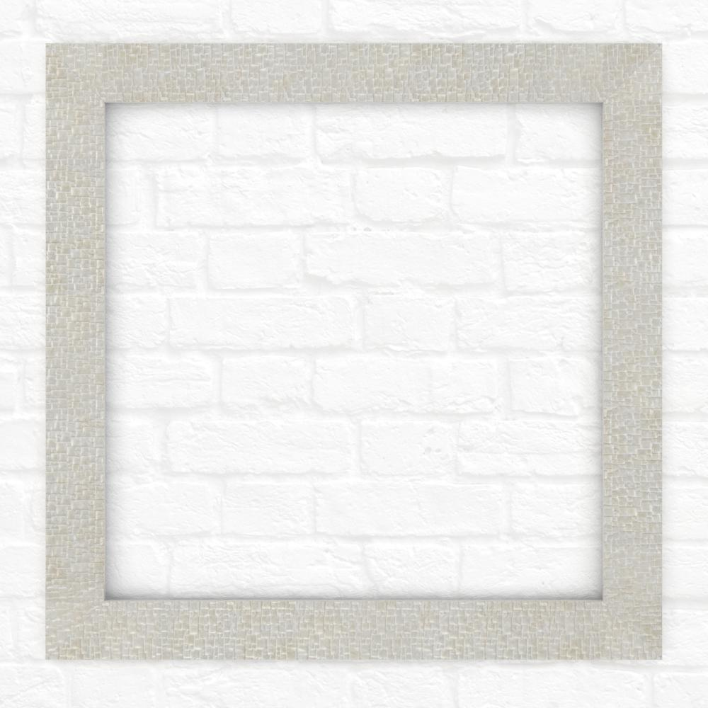 33 in. x 33 in. (L2) Square Mirror Frame in Stone