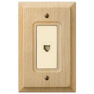 Cabin 1 Gang Phone Wood Wall Plate - Unfinished