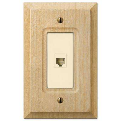 Baker 1-Gang Telephone Wall Plate - Unfinished Wood