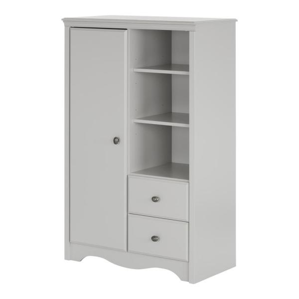 South Shore Angel Soft Gray Armoire 10230