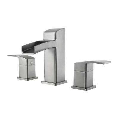 Kenzo 8 in. Widespread 2-Handle Bathroom Faucet in Brushed Nickel